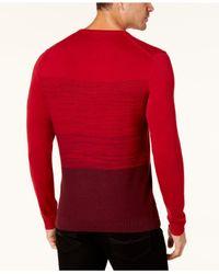 Alfani - Red Men's Colorblocked Sweater for Men - Lyst