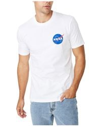 Cotton On White Graphic Collab Pop Culture T-shirt for men