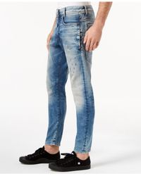 G-Star RAW Blue D-staq 3d Super-slim Fit Stretch Destructed Jeans, Created For Macy's for men