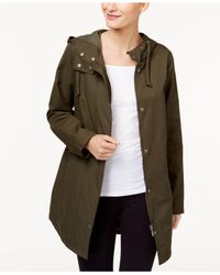Style & Co. - Green Petite Rainy Day Hooded Utility Jacket - Lyst