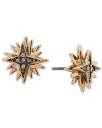 Ivanka Trump Metallic Gold-tone Multi-star Crystal Stud Earrings
