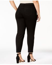 Charter Club Plus Size Bristol Skinny Ankle Jeans, Black Wash