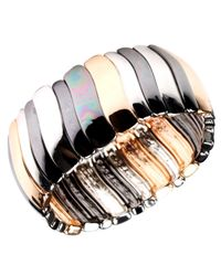 Nine West Multicolor Bracelet, Tri Tone Stretch Bracelet