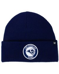 47 Brand - Blue Ice Block Cuff Knit Hat - Lyst