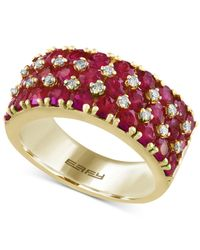 Effy Collection - Metallic Ruby (3-3/8 Ct. T.w.) And Diamond (1/5 Ct. T.w.) Band In 14k Gold - Lyst