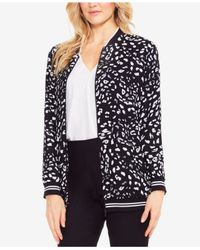 Vince Camuto - Black Animal Whispers Bomber Jacket - Lyst
