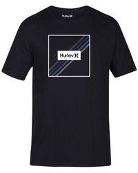 Hurley - Black Men's Steps Premium Graphic-print T-shirt for Men - Lyst