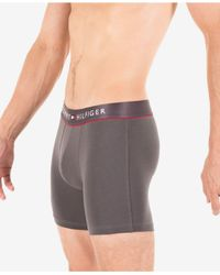 Tommy Hilfiger Gray Cotton Flex Underwear Boxer Briefs Grey S/no Inseam for men