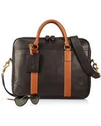 Polo Ralph Lauren Black Leather Commuter Bag for men
