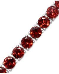 Macy's | Red Sterling Silver Bracelet, Garnet (20 Ct. T.w.) | Lyst