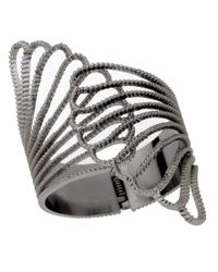Guess | Metallic Bracelet, Hinged Claw Cuff | Lyst