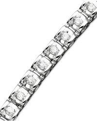 Macy's   Metallic Diamond Bracelet In 14k White Gold (1 Ct. T.w.)   Lyst