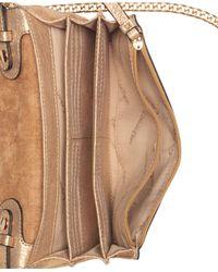 CALVIN KLEIN 205W39NYC Metallic Faye Leather Small Crossbody