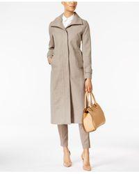 Jones New York - Natural Stand-collar Maxi Coat - Lyst