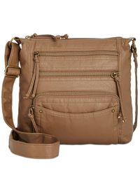 Style & Co. Brown Kenza Washed Small Crossbody