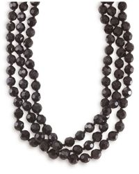 Carolee | Black Jet Bead Long Rope | Lyst