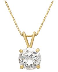 Giani Bernini | Metallic 18k Gold Over Sterling Silver Necklace, Cubic Zirconia Pendant (1 Ct. T.w) | Lyst