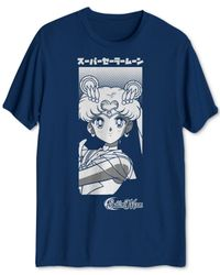 Hybrid - Blue Sailor Moon And Luna Graphic T-shirt for Men - Lyst
