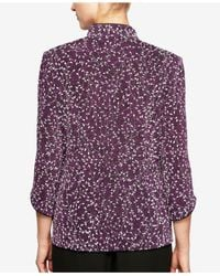Alex Evenings - Purple Petite 2-pc. Top & Jacket Set - Lyst