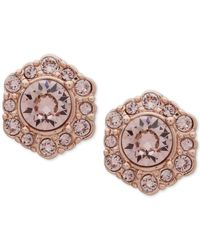 Givenchy - Pink Crystal Stud Earrings - Lyst