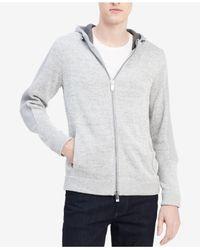 CALVIN KLEIN 205W39NYC - Gray Men's Colorblocked Full-zip Hoodie for Men - Lyst