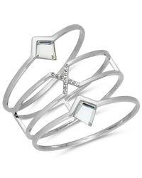 INC International Concepts | Metallic Gold-tone 3-pc. Set Pavé & Jet Stone Bangle Bracelets | Lyst