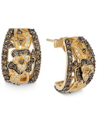 Le Vian - Yellow Chocolate Diamond And White Diamond Earrings (1-3/4 Ct. T.w.) In 14k Gold - Lyst