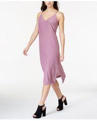 Kensie - Purple V-neck Slip Dress - Lyst