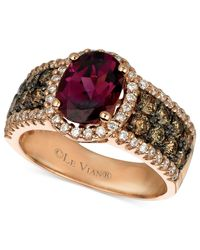 Le Vian | Red Garnet (1-7/8 Ct. Chocolate Diamond (3/4 Ct. T.w.) And White Diamond (3/8 Ct. T.w.) Oval In 14k Rose Gold | Lyst