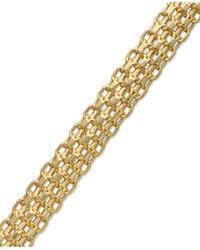 Macy's | Metallic Bombay Bismark Chain Bracelet In 14k Gold | Lyst
