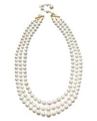 Charter Club | Three Row White Simulated Pearl (10 Mm) | Lyst