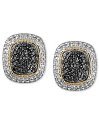 Effy Collection - Metallic Balissima By Effy Diamond Black And White Diamond Stud (x Ct. T.w.) In 18k Gold And Sterling Silver - Lyst