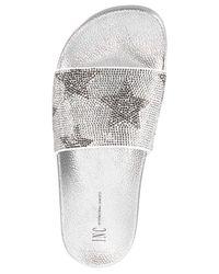 INC International Concepts - Metallic Women's Peymin Flat Slide Sandals - Lyst