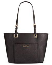 Calvin Klein Black Saffiano Tote