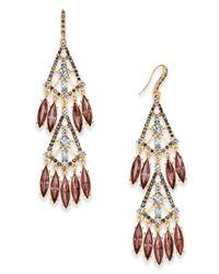INC International Concepts - Metallic Hematite-tone Shaky Stone Chandelier Earrings - Lyst