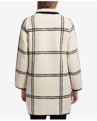 Calvin Klein   White Windowpane Open Coat   Lyst