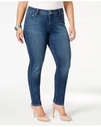 Lucky Brand Blue Plus Size Emma Straight-leg Jeans
