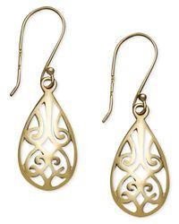 Giani Bernini | Metallic 18k Gold Over Sterling Silver Earrings, Filigree Teardrop Earrings | Lyst