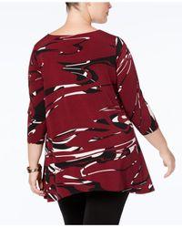 Alfani - Red Plus Size Asymmetrical-hem Tunic - Lyst