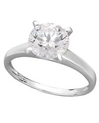 Arabella | Metallic 14k White Gold Ring, Swarovski Zirconia Solitaire Engagement Ring (3-1/3 Ct. T.w.) | Lyst