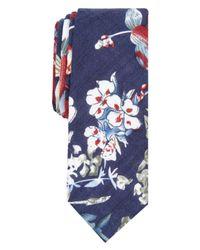 Original Penguin Blue Lesnar Floral Skinny Tie for men