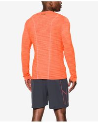 Under Armour Orange Men's Threadborne Seamless Shirt for men