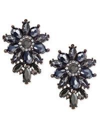 INC International Concepts - Multicolor Hematite-tone Crystal Cluster Flower Stud Earrings - Lyst