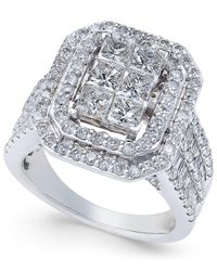 Macy's - Metallic Diamond Engagement Ring (3 Ct. T.w.) In 14k White Gold - Lyst