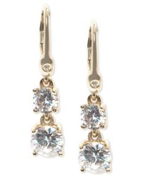 Ivanka Trump - Metallic Cubic Zirconia Two-stone Drop Earrings - Lyst