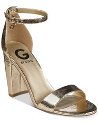 G by Guess Metallic Shantel Two-piece Sandals