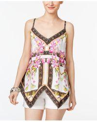 INC International Concepts - Multicolor Handkerchief-hem Top - Lyst