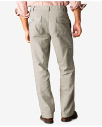 Dockers Natural D3 Classic Fit Comfort Cargo Flat Front Pants for men