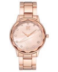 INC International Concepts Metallic Bracelet Watch 36mm, Created For Macy