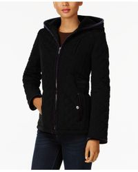 Laundry by Shelli Segal - Black Quilted Velvet-trim Jacket - Lyst